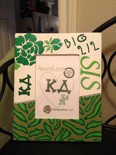 Kappa Delta Decorative Frame by Themesations on Etsy, $22.00