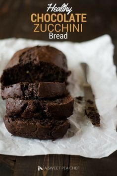 This Healthy Chocolate Zucchini Bread takes just about an hour to make and is absolutely delicious! asweetpeachef.com