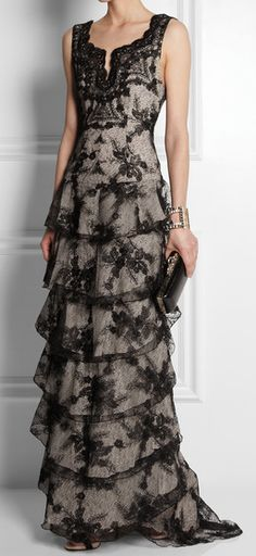 gorgeous tiered lace gown  http://rstyle.me/n/h35n5pdpe