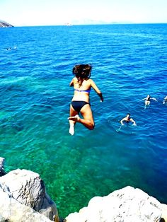 Hydra, Greece - I have jumped from these rocks! Awesome!!!
