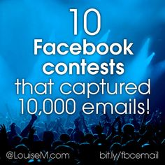 To double your email list with Facebook contests, check this out to see how 10 different businesses succeeded with a unique Facebook layout! --> http://louisem.com/5442/facebook-contests-emails