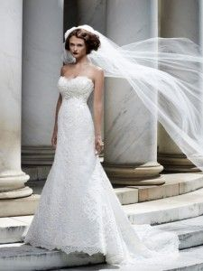Lace never goes out of style.  Give it a re-pin!  Casablanca Style #2072.  Available at www.gatewaybridal.com