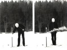 Roman Signer, video still Zipfelmütze mit Rakete, 1983 Collection Bonnefantenmuseum
