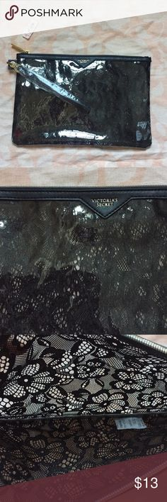 Brand New Victoria's Secret lace cosmetic case Brand new cosmetic bag from Victoria's Secret. Can be used as a wristlet. Victoria's Secret Bags Cosmetic Bags & Cases