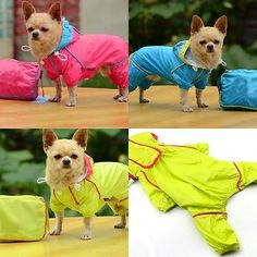Pet Rain coat for Small Dogs Pet Jacket Cute Casual Waterproof Dog Clothes