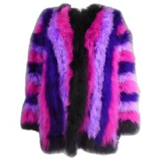 73975d9b510 French Ostrich Feather Coat, Circa 1980 1 Purple Coat, Purple Vests, Feather  Coat