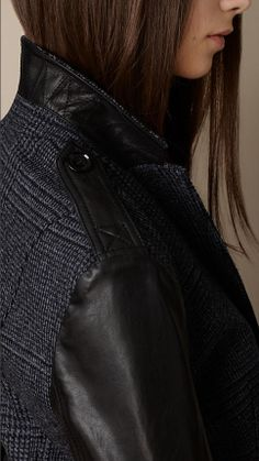 Leather Detail Tailored Jacket | Burberry