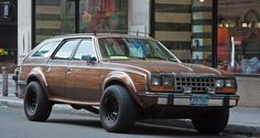 AMC Eagle Wagon - the wood paneling is the cherry on top of the shit sundae.