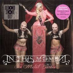 """rare IN THIS MOMENT sex metal barbie 45 SEALED RSD PINK VINYL REMIX 7"""" metal oop in Music, Records 