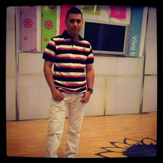 En el set de tv
