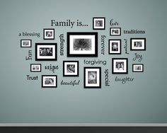 Family is... Wall Decal - Family Decal - Decals for Picture Wall - Family is a blessing