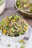 This fresh Broccoli Buckwheat Salad gets lots of flavour from semi-dried tomatoes and fresh herbs! Gluten and dairy free this satisfying salad is perfect for meal prep. Buckwheat Salad, Buckwheat Recipes, Salad Recipes, Diet Recipes, Vegan Recipes, Cooking Recipes, Healthy Salads, Healthy Eating, Broccoli