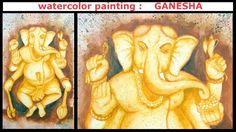WTERCOLOR Painting :GANESHA
