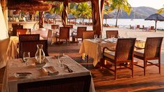 La Marea offers patio dining with stunning views of the water.