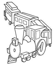 Christmas Toys Coloring Pages - Christmas Toy Train Coloring Sheet Train Coloring Pages, Coloring Sheets For Kids, Free Printable Coloring Pages, Coloring Book Pages, Christmas Train, Christmas Toys, Train Drawing, Train Pictures, Christmas Coloring Pages