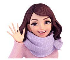 Summer 2 (in Winter) by Yinxuan Li Dezarmenien sticker Cute Cartoon Pictures, Cute Cartoon Girl, Anime Girl Cute, Anime Art Girl, Cute Girl Drawing, Cartoon Girl Drawing, Cartoon Art, Girl Cartoon Characters, Hijab Cartoon