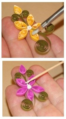 How To Glue Your Quilling to a Background Surface by Charlotte Canup / theartofq… Comment coller votre quilling sur une surface de fond par Charlotte Canup / theartofquilling …. Arte Quilling, Paper Quilling Flowers, Paper Quilling Patterns, Origami And Quilling, Quilled Paper Art, Quilling Paper Craft, Paper Crafts, Quilling Instructions, Paper Quilling Tutorial