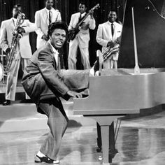 Little Richard - in mid piano frenzy. If you ever wondered why rock'n'roll caused all that fuss check out his classic performances!