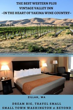 If you want to tour the Rattlesnake Hills Wine Trail or Yakima Valley wineries the Best Western PLUS Vintage Valley Inn is in the heart of wine country.
