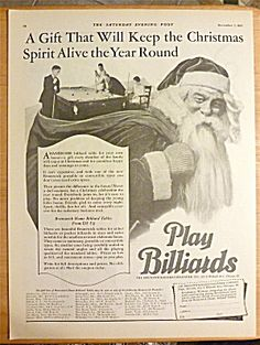 1927 Play Billiards with Santa Claus. Click on the image for more information.