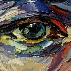Impasto eye experiment