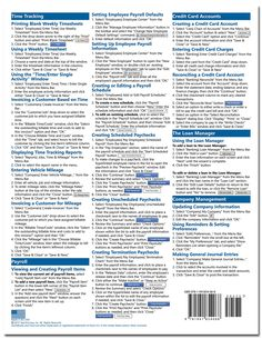 QuickBooks Pro 2016 Quick Reference Training Card - Laminated Tutorial Guide Cheat Sheet (Instructions and Tips): TeachUcomp Inc.: 9781941854068: Amazon.com: Books