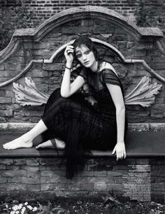 Interview Russia November 2012  - Darkly divine, the Interview Russia November 2012 editorial showcases Gothic style fashion for the dramatic woman. Interestingly, this photoshoot d...