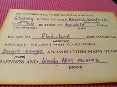 Best RSVP card ever. Could you imagine the replies you would get from your friends... I will so do this when Im engaged