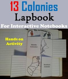 The Thirteen Colonies Activity (Colonial America Interactive Notebook) Composition Books, Branches Of Government, States Of Matter, 13 Colonies, Colonial America, Scientific Method, Hands On Activities, Earth Science, Interactive Notebooks