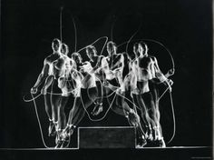 Stroboscopic Image of Rope Skipping Champion Gordon Hathaway in Action - Premium Photographic Print
