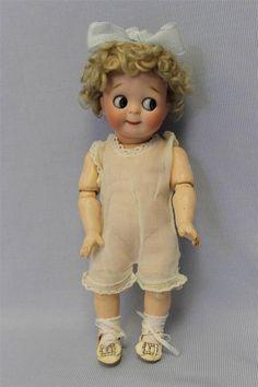 Early 221 Kestner JDK Big Blue Googly Eyes Slant Hip Toddler from turnofthecenturyantiques on Ruby Lane Old Dolls, Antique Dolls, Vintage Dolls, Pretty Dolls, Beautiful Dolls, Child Doll, Baby Dolls, Crochet Baby Sandals, Reborn