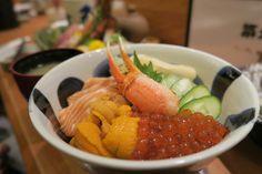 Chirashi Bowl - Ikura, Sake, Hotate, Kani & Uni.