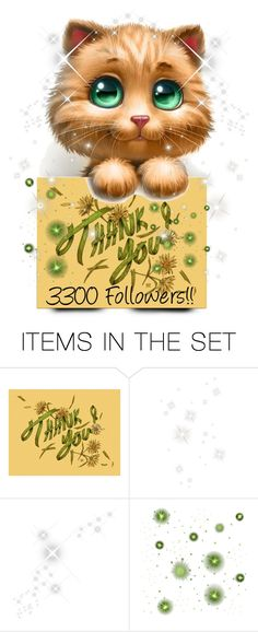 """""""Thank You 😍❤️💐💕 3300 FOLLOWERS"""" by crochetragrug ❤ liked on Polyvore featuring art"""