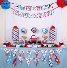 Mustache Bash Little Man Barber Birthday Or Baby Shower Dessert Table Pole