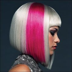 models with red pink hair | hair color ideas in pink hair platinum hair tags streaks