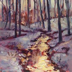 """Woods in Snow I"" - Original Fine Art for Sale - � Claudia L Brookes"