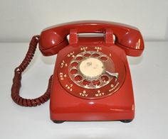Vintage  Phone Western Electric Bell System Red by CardinalCache, $54.50