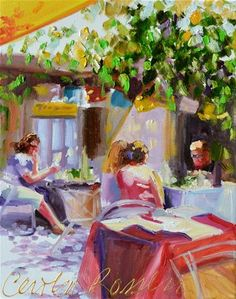 """CARMEL CAFE"" -  © Cecilia Rosslee"