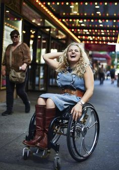 Ali Stroker, the first actor in a wheelchair to ever perform on Broadway (from Deaf West Spring Awakening).