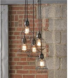 Set off an industrial theme with these wire cage lights.