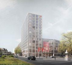 Neubau der Bundesvorstandsverwaltung des Deutschen Gewerkschaftsbundes (DGB) in Berlin, O&O Baukunst,  Visualisierung: Finest-Images