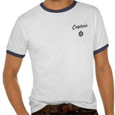 Ship or Boat Captain Shirt with Emblem T Shirt, Hoodie Sweatshirt
