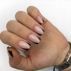 french nails gel Art Tutorials in 2020 Blue Nail, Pink Nails, My Nails, Gel Nail Art, Nail Manicure, Acrylic Nails, Cute Nails, Pretty Nails, Sqaure Nails