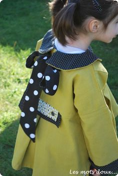 PHEKDA vue de dos, Grains de Couture pour Enfants, Ivanne Soufflet, by Les Mots Doux Diy For Kids, Kids Outfits, Projects To Try, Creations, Mom, Sewing, Crochet, How To Make, Armoire