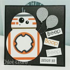 Chlo's Craft Closet - Stampin' Up! Independent Demonstrator: BB8 Star Wars Card - Birthday Boy