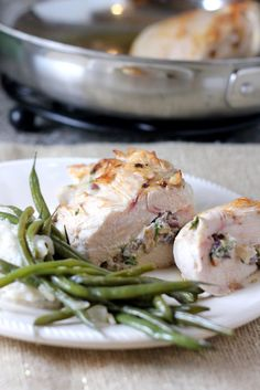 Goat Cheese, Pistachio & Apricot Stuffed Chicken Breasts