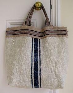 antique linen bag easy tote