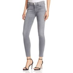 Hudson Nico Mid Rise Skinny Jeans in Spark Plug ($198) ❤ liked on Polyvore featuring jeans, spark plug, gray jeans, skinny jeans, super skinny jeans, mid-rise jeans and medium rise jeans