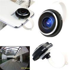 235° Clip Super Fisheye Lens Camera For iPhone HTC LG SAMSUNG Smart Cell Phone #UnbrandedGeneric