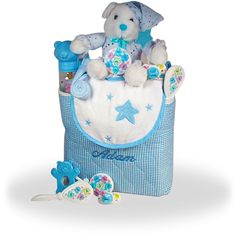Tote Bag Gift for Baby Boy Personalized  #GiftBaskets4Baby #Personalized #Boy #Boys #gifts #giftbaskets #BabyShower #Baby #Babies For more information visit: www.GiftBaskets4Baby.com